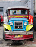 A jeepney parking on street in Banaue, Philippines Royalty Free Stock Photos