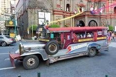Jeepney on the street Philippines stock photos