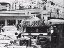 Jeepney. Urban living. everyday Philippines Royalty Free Stock Images