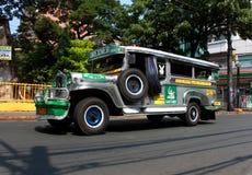 jeepneypassagerare Royaltyfria Bilder