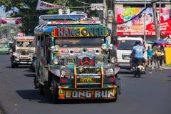 Jeepneys Filipino inexpensive bus service. Philippines Royalty Free Stock Image