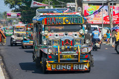 Jeepneys passing, Royalty Free Stock Image