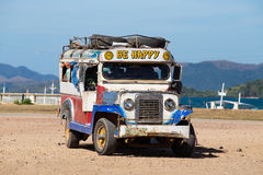 Jeepneys passing, Philippines Stock Image