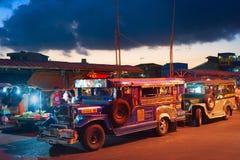 Jeepneys, Philippines public transport Stock Photos