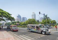 Jeepneys in rizal park manila philippines Royalty Free Stock Photos