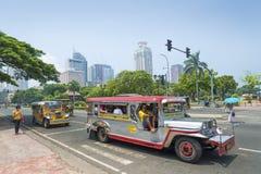 Jeepneys in rizal park manila philippines. Jeepneys in rizal park of manila philippines stock photography