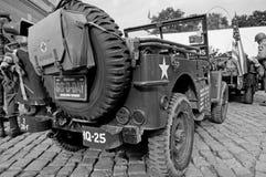Jeeps americanos Imagen de archivo libre de regalías