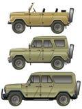Jeeps del vector fijados stock de ilustración