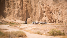 Jeeps in the desert Royalty Free Stock Image