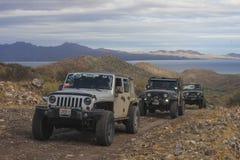 Jeeps op de weg Stock Fotografie