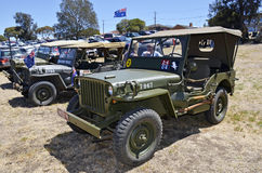 Jeeps. Rippleside Park in Geelong, Victoria, Australia, was one of the hosts to the many Australia Day Celebrations all over the City in January 2014. The Royalty Free Stock Photo
