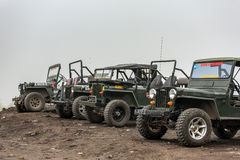 Jeeps are waiting for their guest Royalty Free Stock Images