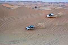 Jeepsafari vid Toyota i Dubai Fotografering för Bildbyråer