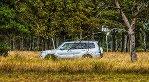 Jeepsafariritter Arkivbild