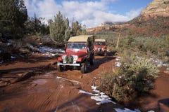 jeepsedonaen turnerar Fotografering för Bildbyråer