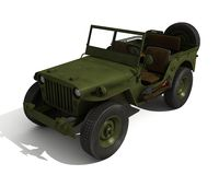 jeepwillys royaltyfri illustrationer