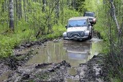 Jeepwrangler i Ryssland Arkivbild