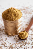 Jeera Powder. Jeera Powder is commonly used in indian recipes as a spicy ingredient Royalty Free Stock Photography