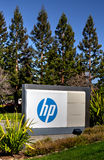 Jefaturas corporativas de Hewlett-Packard Imagen de archivo libre de regalías