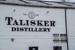 Jefaturas de la destilería de Talisker, Escocia, Reino Unido fotos de archivo