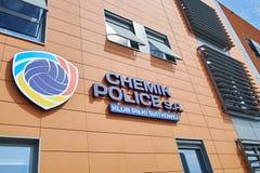 Jefaturas de la policía de Chemik, club del voleibol del ` s de las mujeres Imagen de archivo libre de regalías