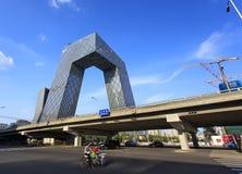 Jefaturas de la televisión central de China (CCTV) Imagen de archivo