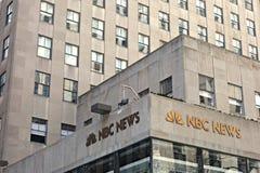 Jefaturas de las noticias del NBC Foto de archivo