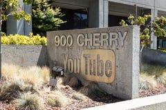 Jefaturas de YouTube Imágenes de archivo libres de regalías