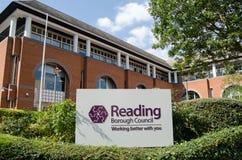 Jefaturas del consejo de ciudad de la lectura Imagen de archivo libre de regalías