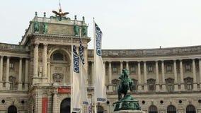 Jefaturas del OSCE en Europa Viena, banderas que agitan la organización almacen de video