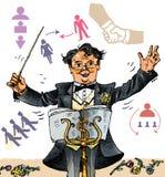Jefe creativo conductor (vector) Imagen de archivo libre de regalías