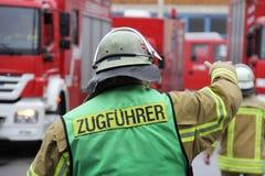 Jefe de bomberos Fotografía de archivo libre de regalías