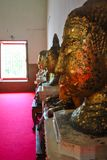 Jefe de la estatua Wat Chang Phra Nakhon Si Ayutthaya de Buda thailan imagen de archivo