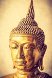 Jefe de la ilustración de oro de la estatua de Buda Foto de archivo libre de regalías