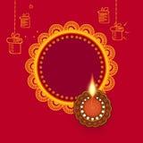 Jefe 2018 de la página web del ejemplo de Diwali stock de ilustración