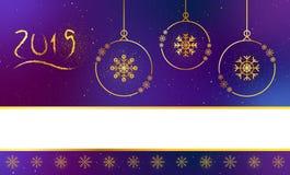 Jefe de las banderas de la Navidad, pie de página para la página web ilustración del vector