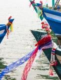 Jefe de los barcos de pesca imagen de archivo libre de regalías