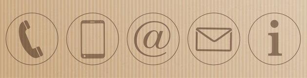 Jefe de los iconos del contacto de la cartulina ilustración del vector