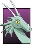 Jefe de un dragón Fotos de archivo libres de regalías
