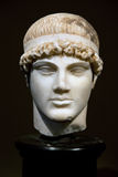 Jefe de una estatua del griego clásico Fotografía de archivo libre de regalías