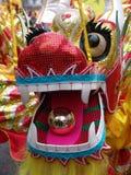 Jefe del baile chino del dragón Foto de archivo libre de regalías