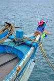 Jefe del barco de pesca de madera Fotografía de archivo