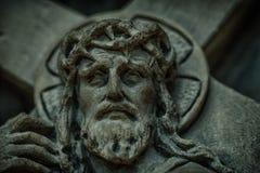 Jefe del cierre de Jesús para arriba Foto de archivo libre de regalías
