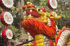 Jefe del dragón chino bien conocido Foto de archivo libre de regalías