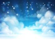 Jefe del fondo de las nubes Foto de archivo