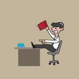 Jefe del hombre de negocios enojado ilustración del vector