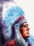 Jefe del nativo americano Imagenes de archivo