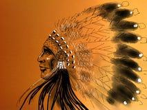 Jefe del nativo americano Fotografía de archivo