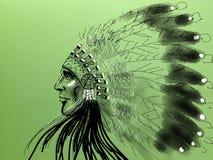 Jefe del nativo americano Fotos de archivo libres de regalías