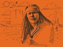 Jefe del nativo americano Fotos de archivo